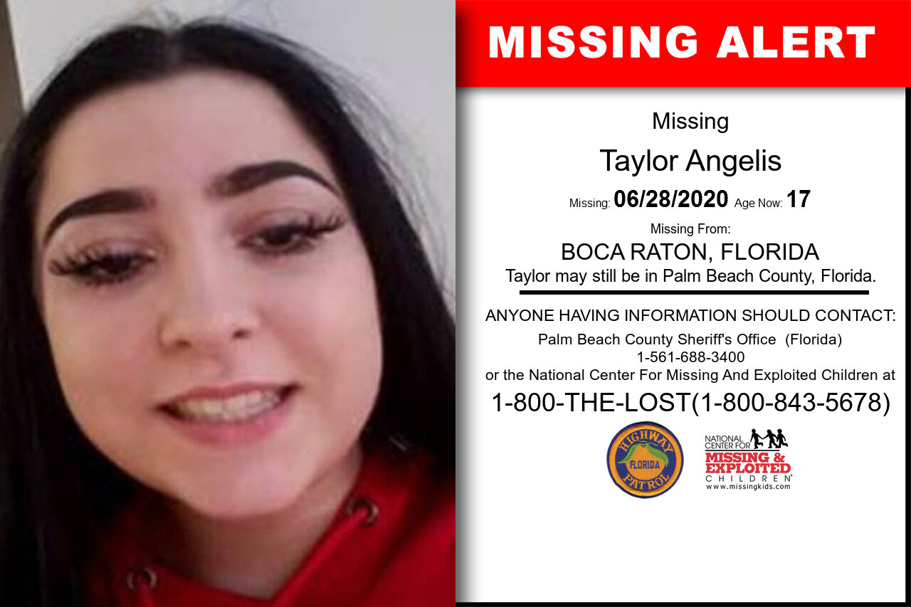 Taylor_Angelis missing in Florida