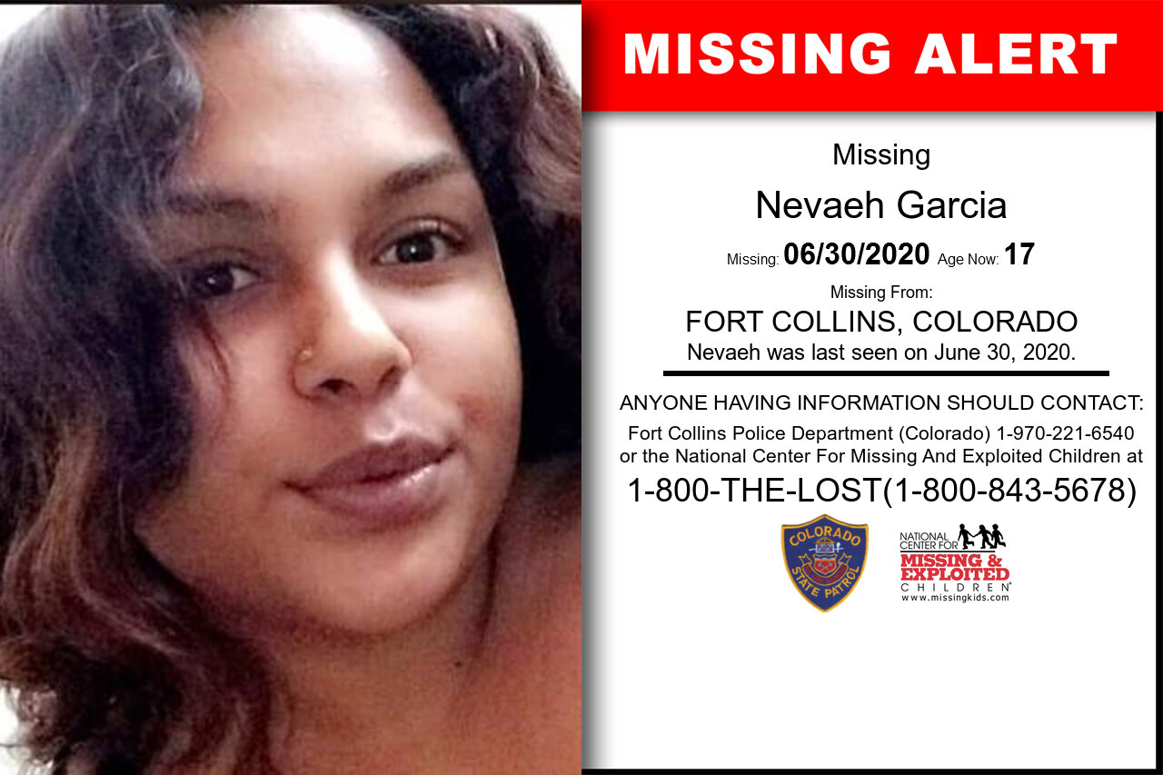 Nevaeh_Garcia missing in Colorado