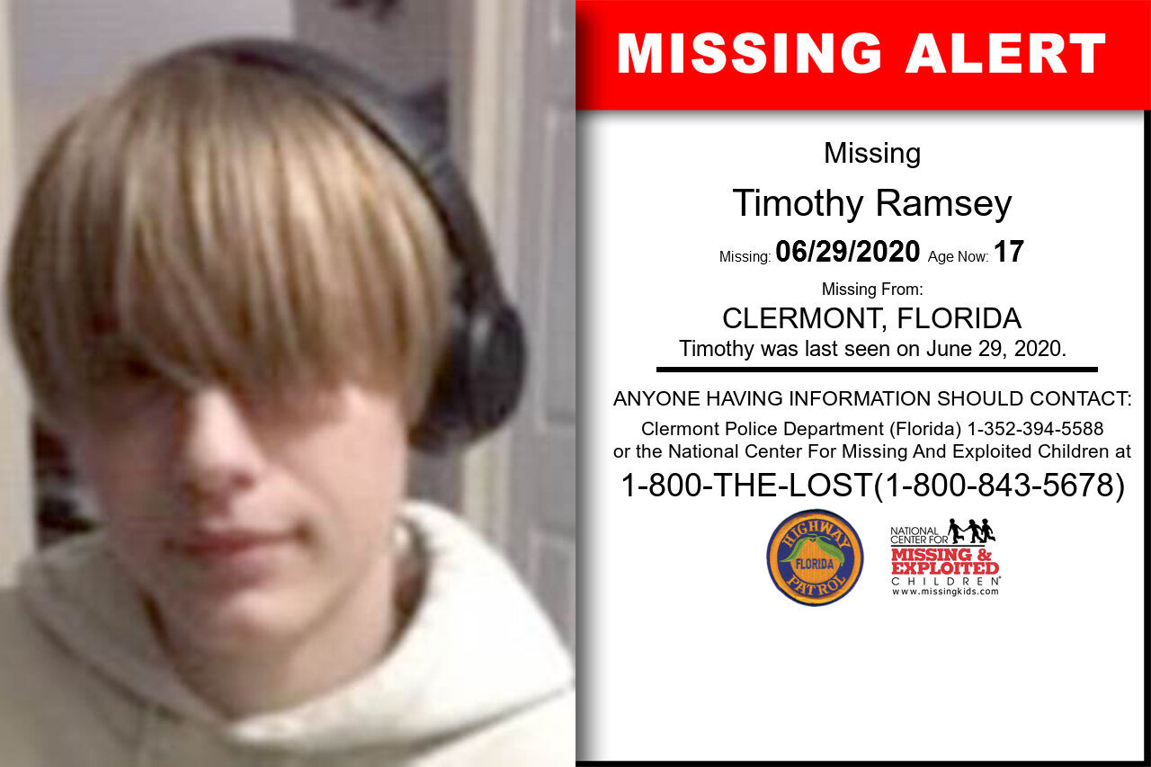 Timothy_Ramsey missing in Florida