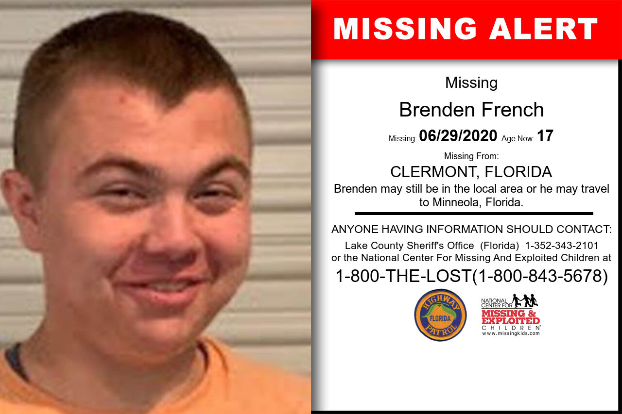 Brenden_French missing in Florida
