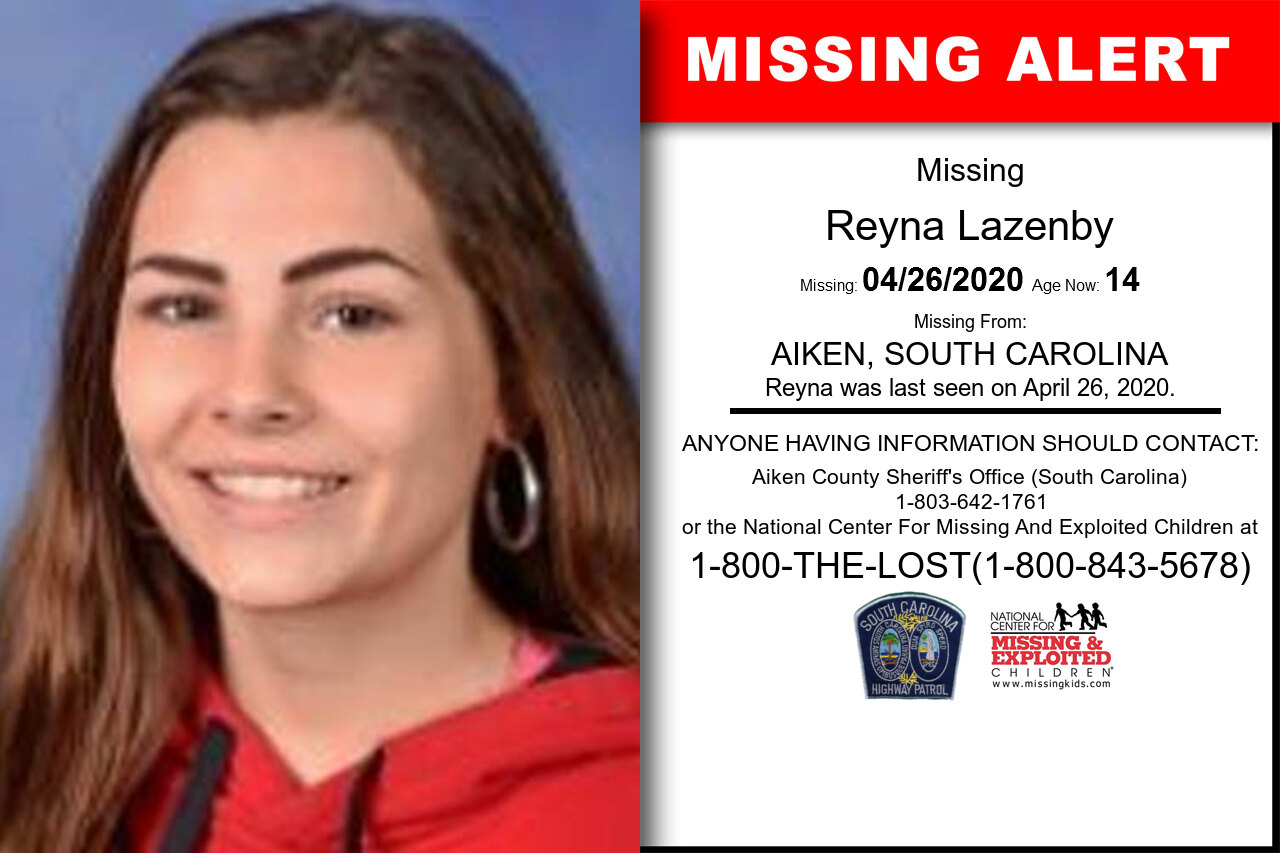 Reyna_Lazenby missing in South_Carolina