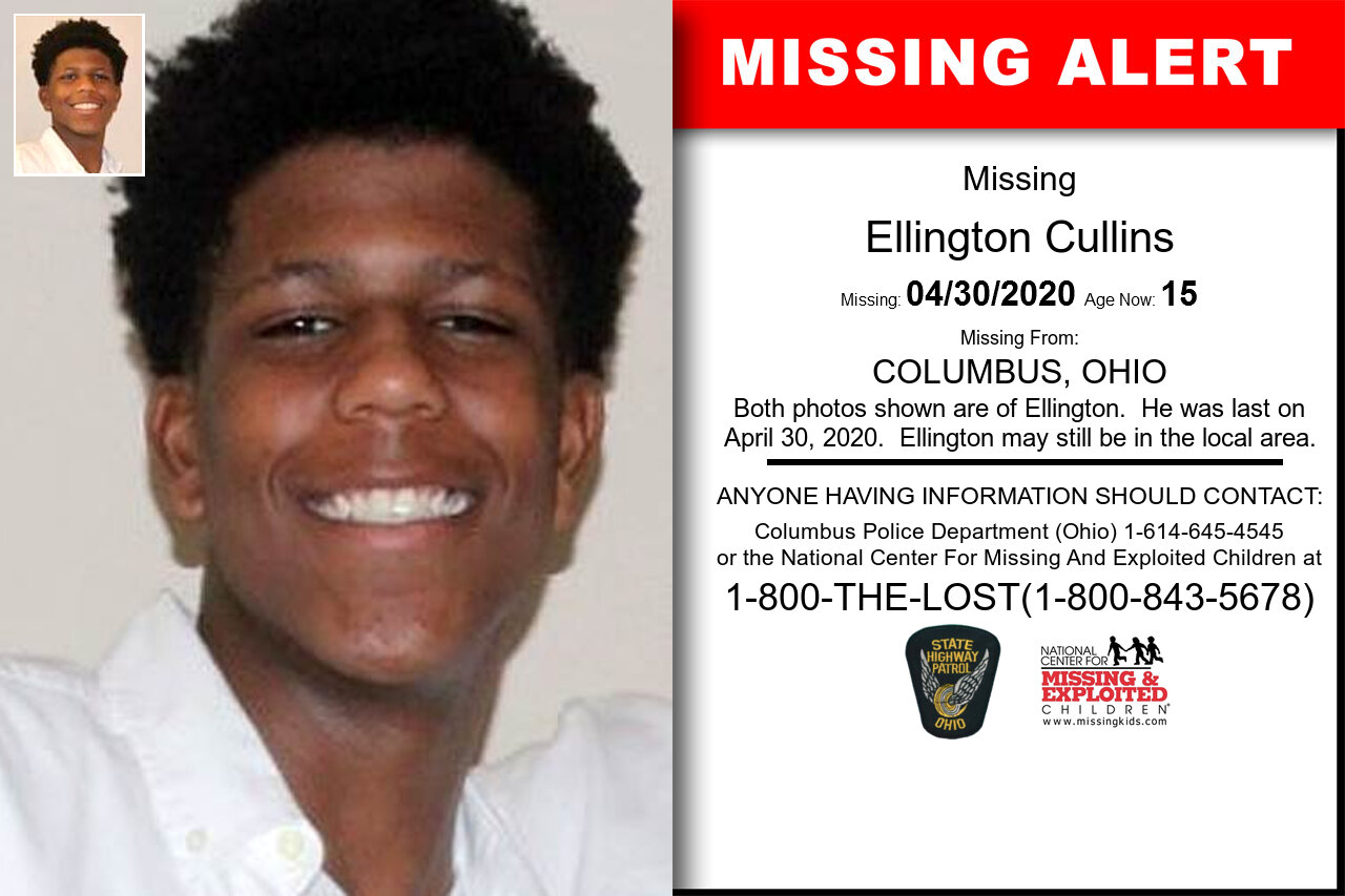 Ellington_Cullins missing in Ohio