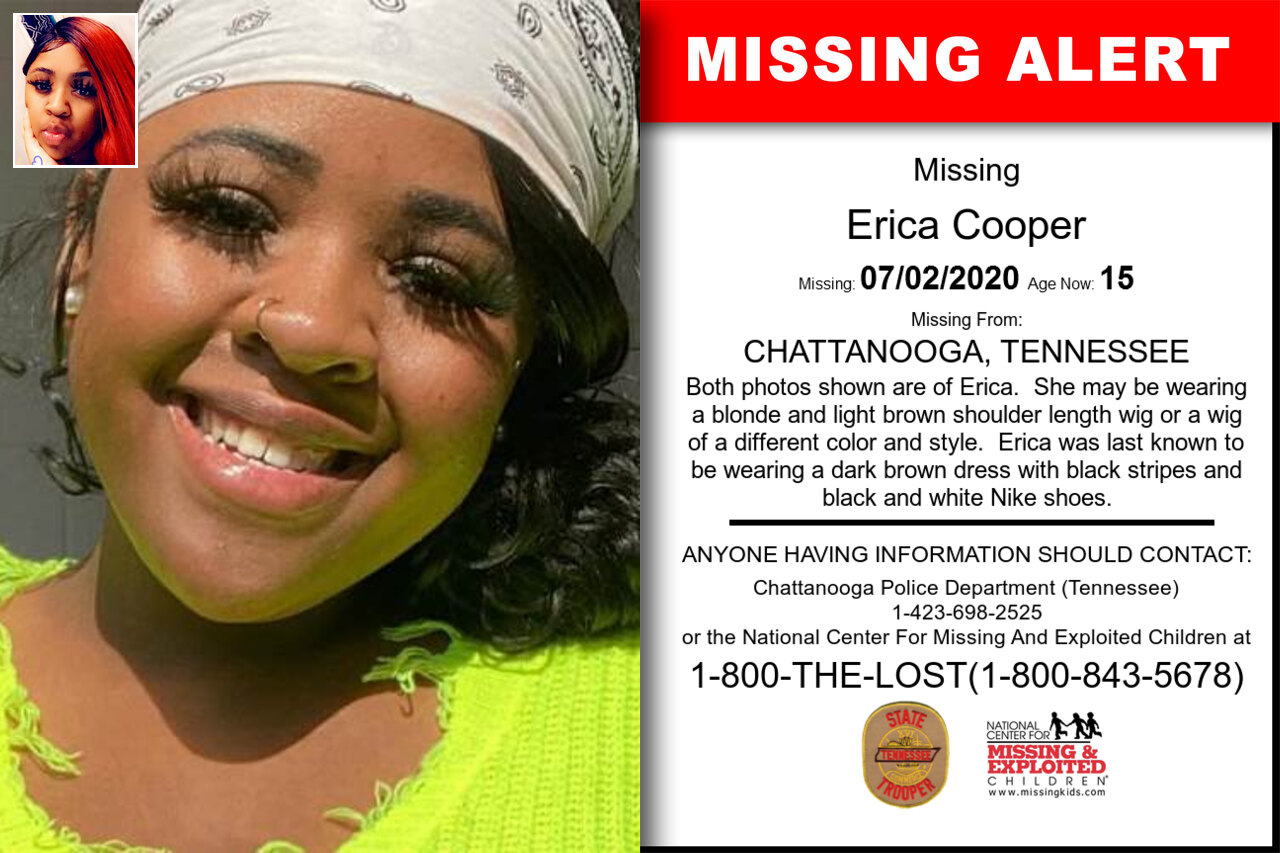 Erica_Cooper missing in Tennessee