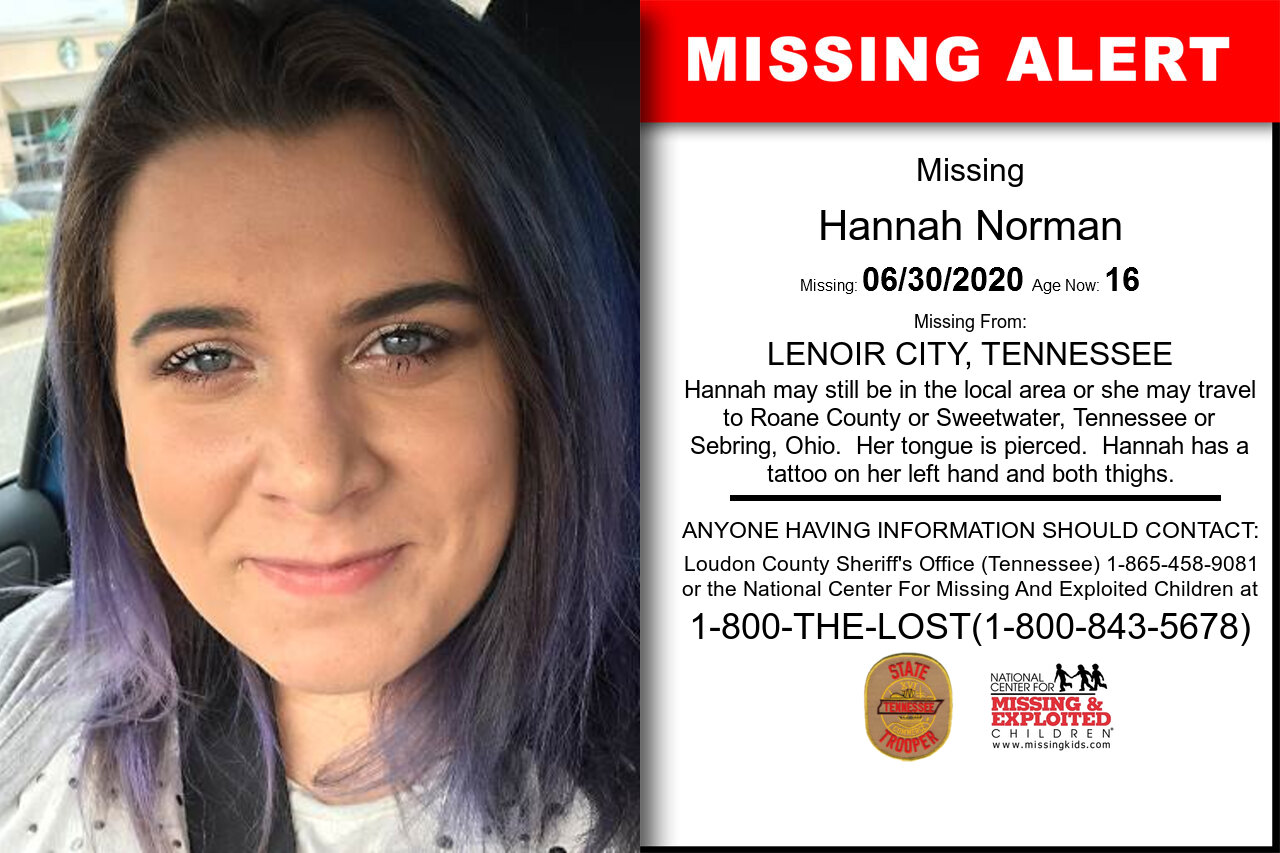 Hannah_Norman missing in Tennessee