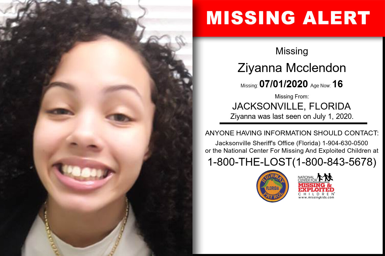 Ziyanna_Mcclendon missing in Florida