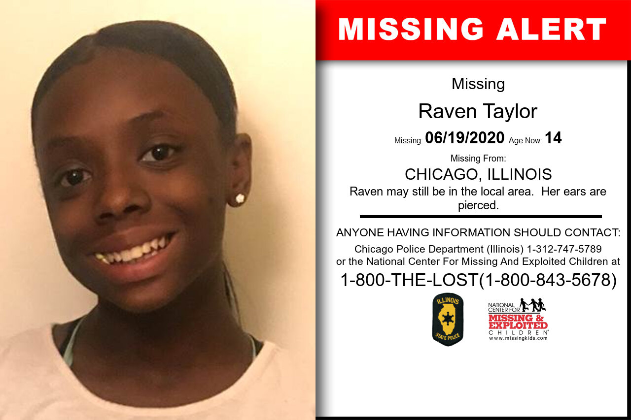 Raven_Taylor missing in Illinois