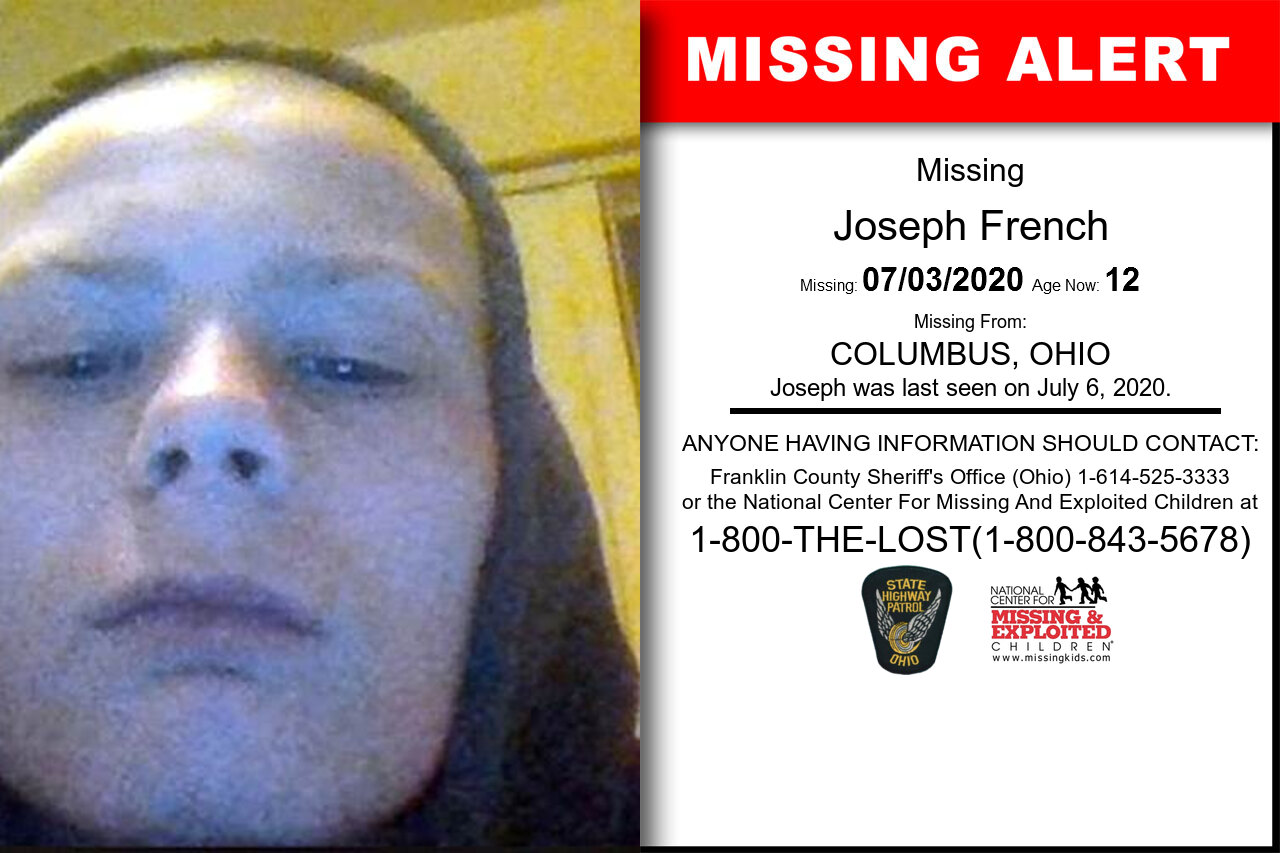 Joseph_French missing in Ohio
