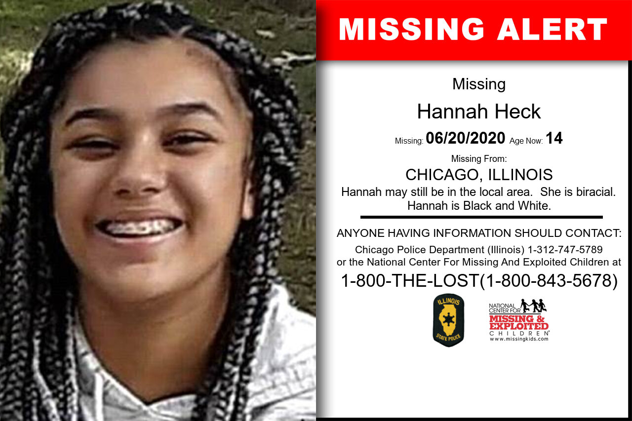 Hannah_Heck missing in Illinois