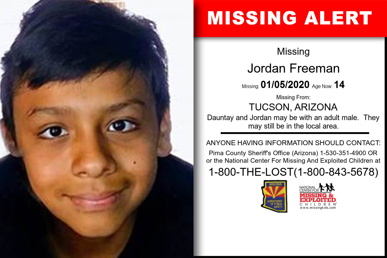 Jordan_Freeman missing in Arizona