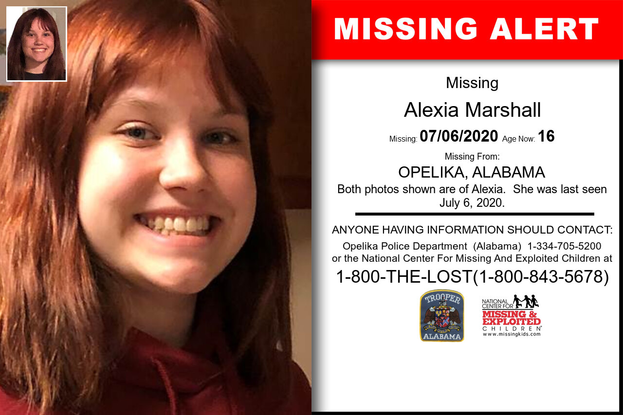 Alexia_Marshall missing in Alabama