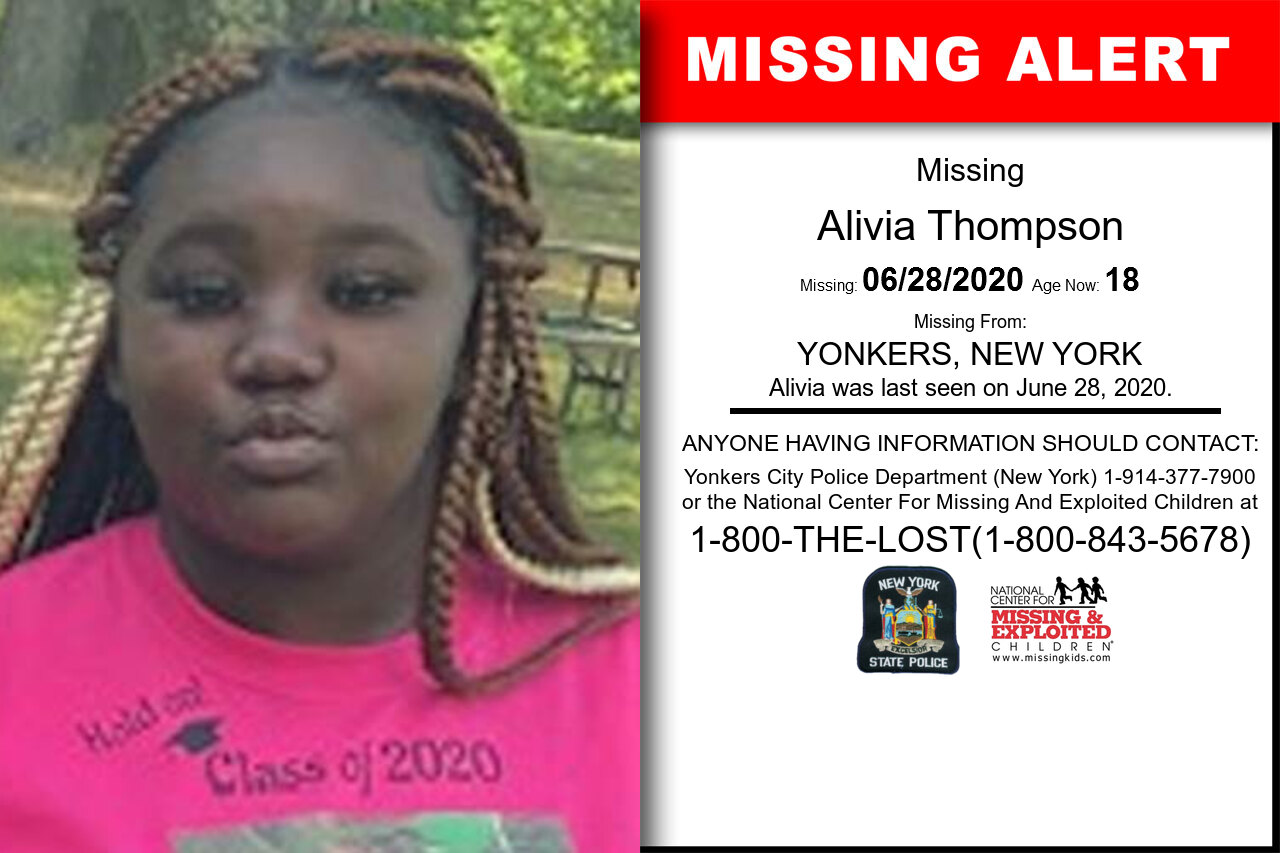 Alivia_Thompson missing in New_York