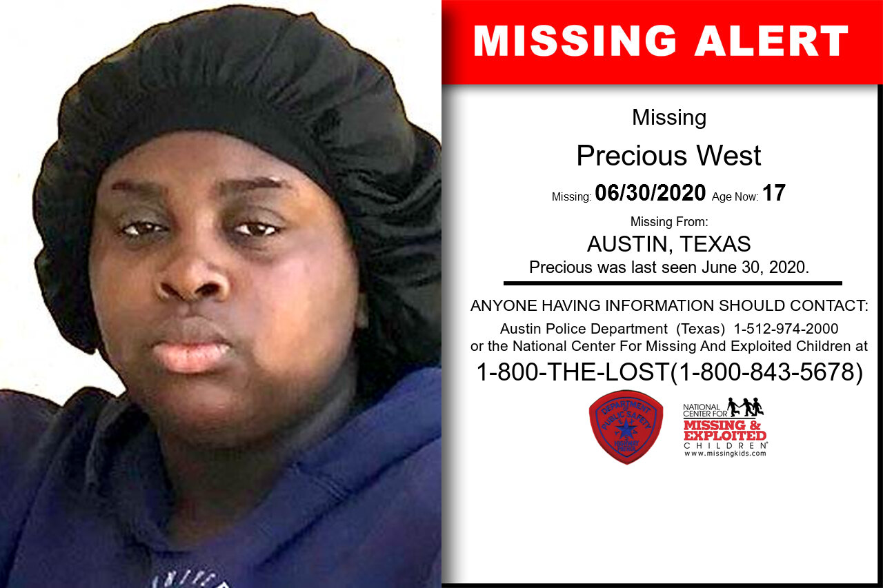 Precious_West missing in Texas