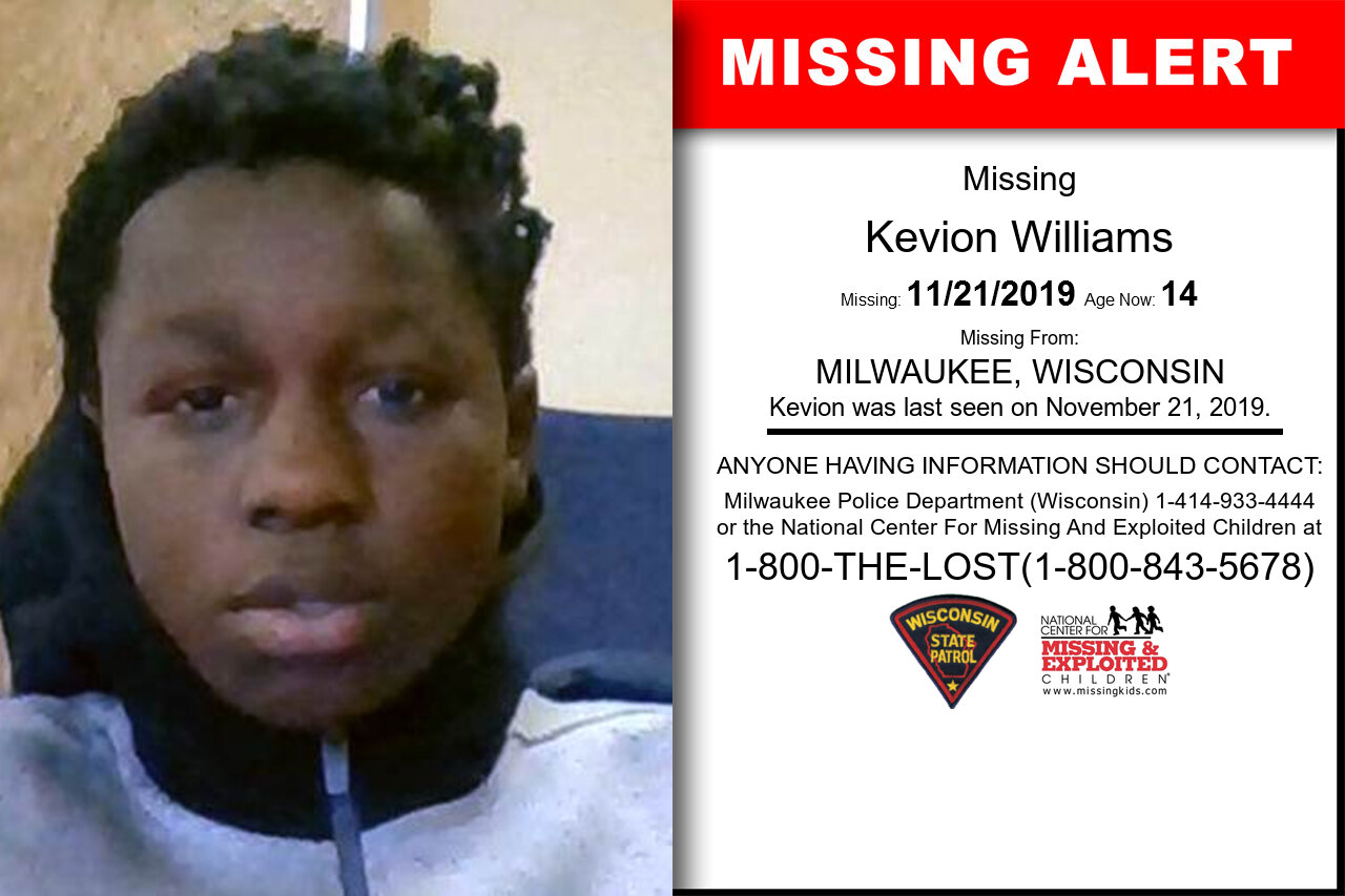 Kevion_Williams missing in Wisconsin