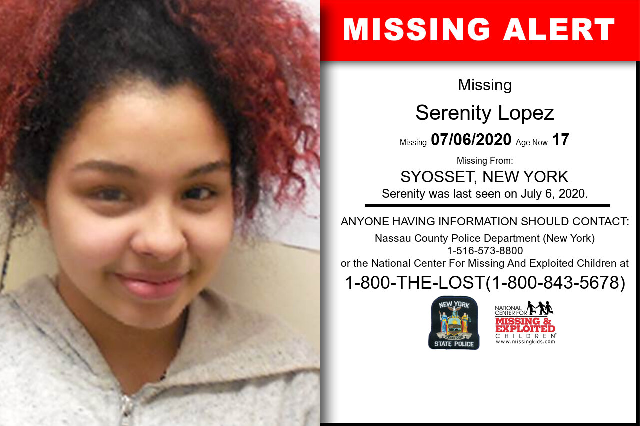 Serenity_Lopez missing in New_York