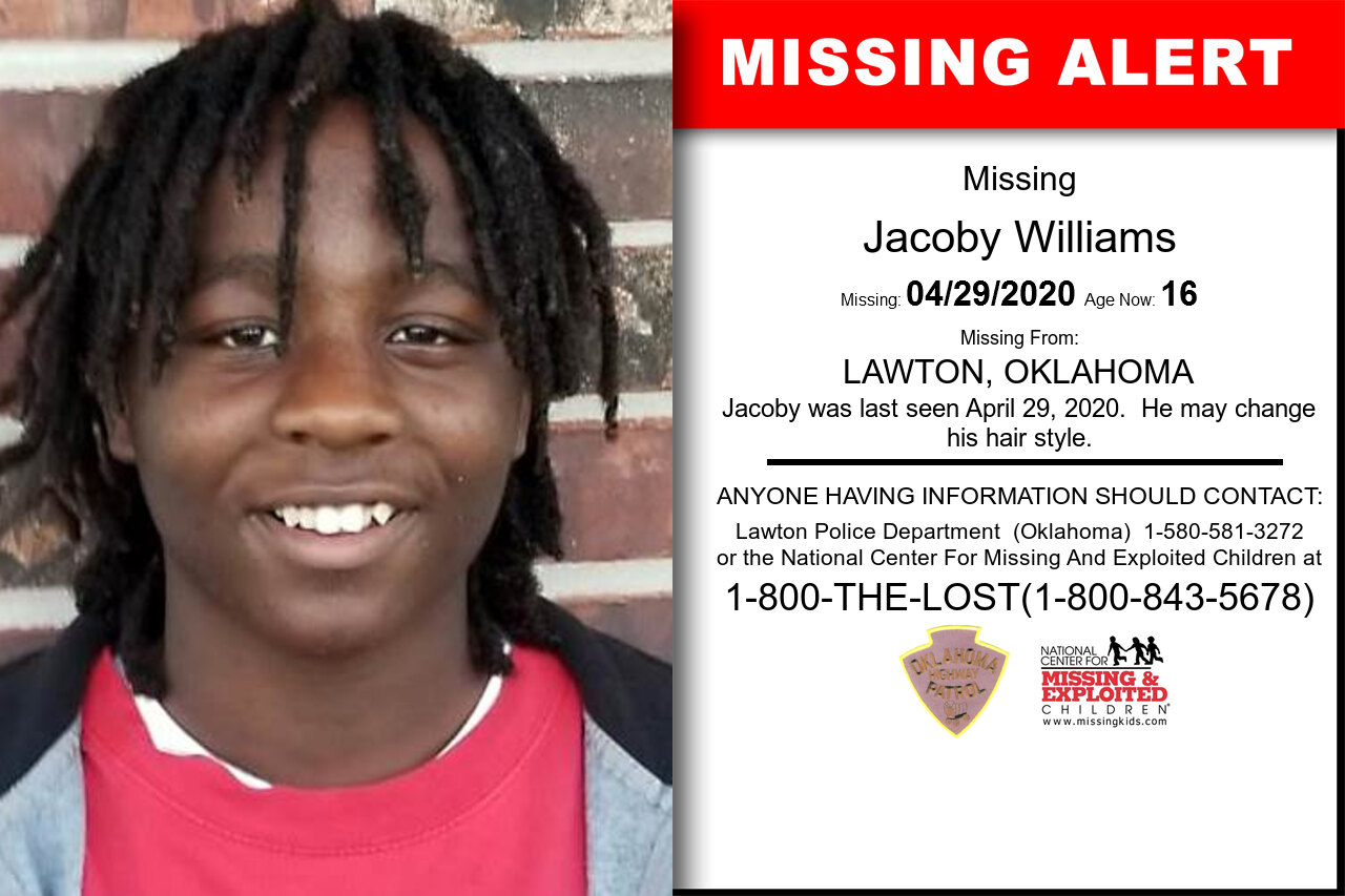 Jacoby_Williams missing in Oklahoma
