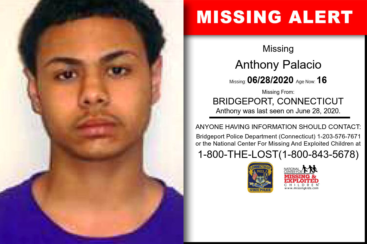 Anthony_Palacio missing in Connecticut