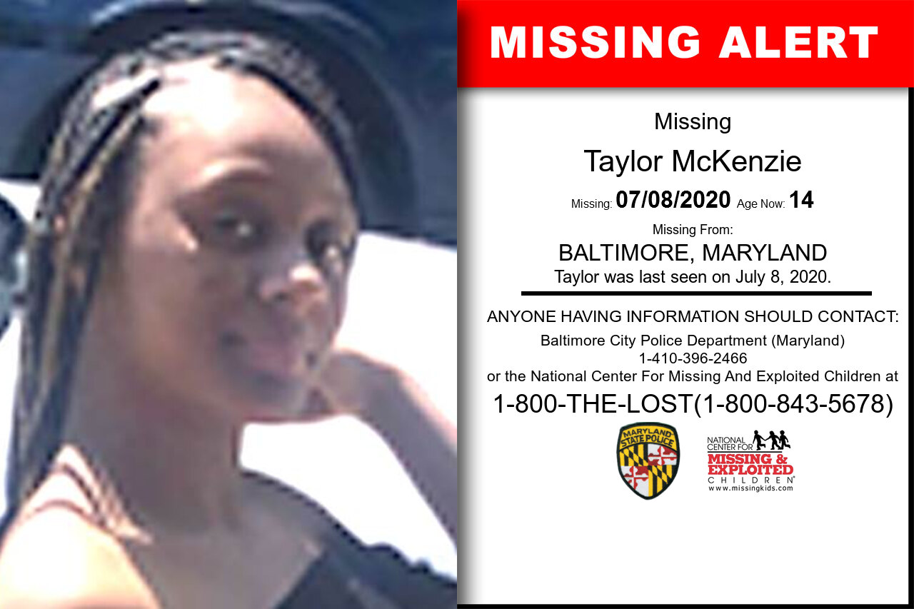 Taylor_McKenzie missing in Maryland