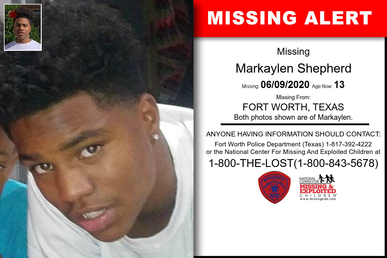 Markaylen_Shepherd missing in Texas
