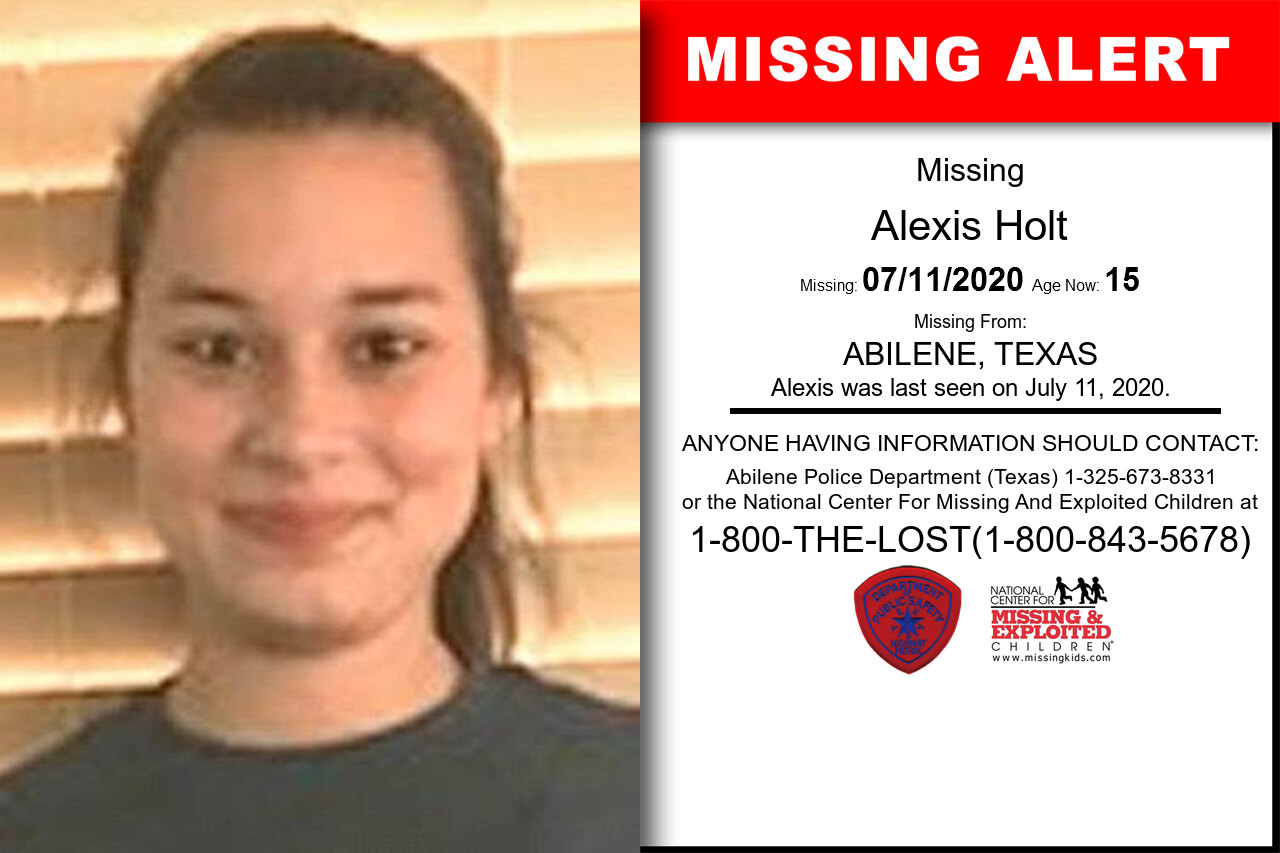 Alexis_Holt missing in Texas