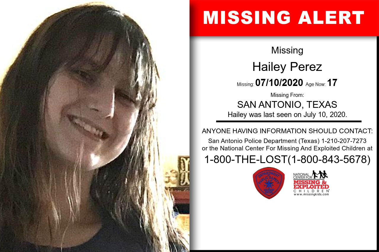 Hailey_Perez missing in Texas