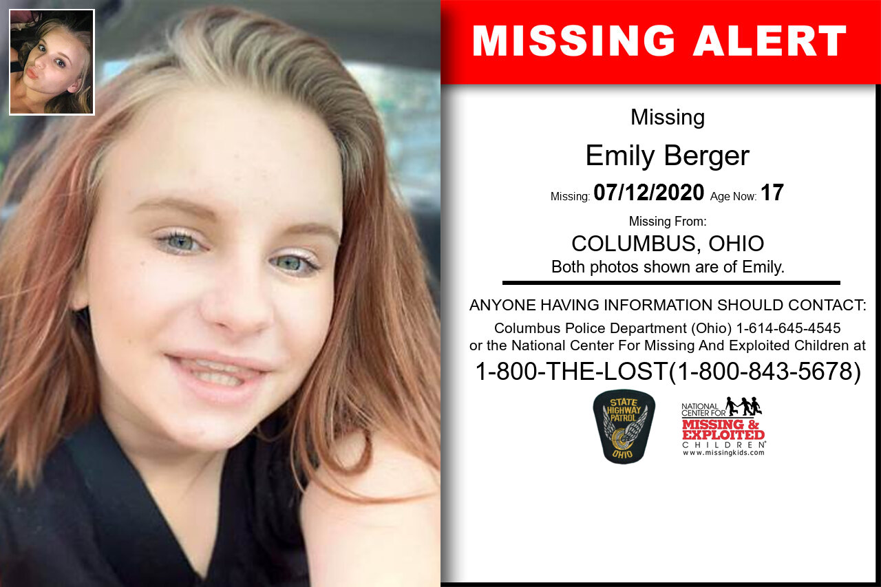 Emily_Berger missing in Ohio