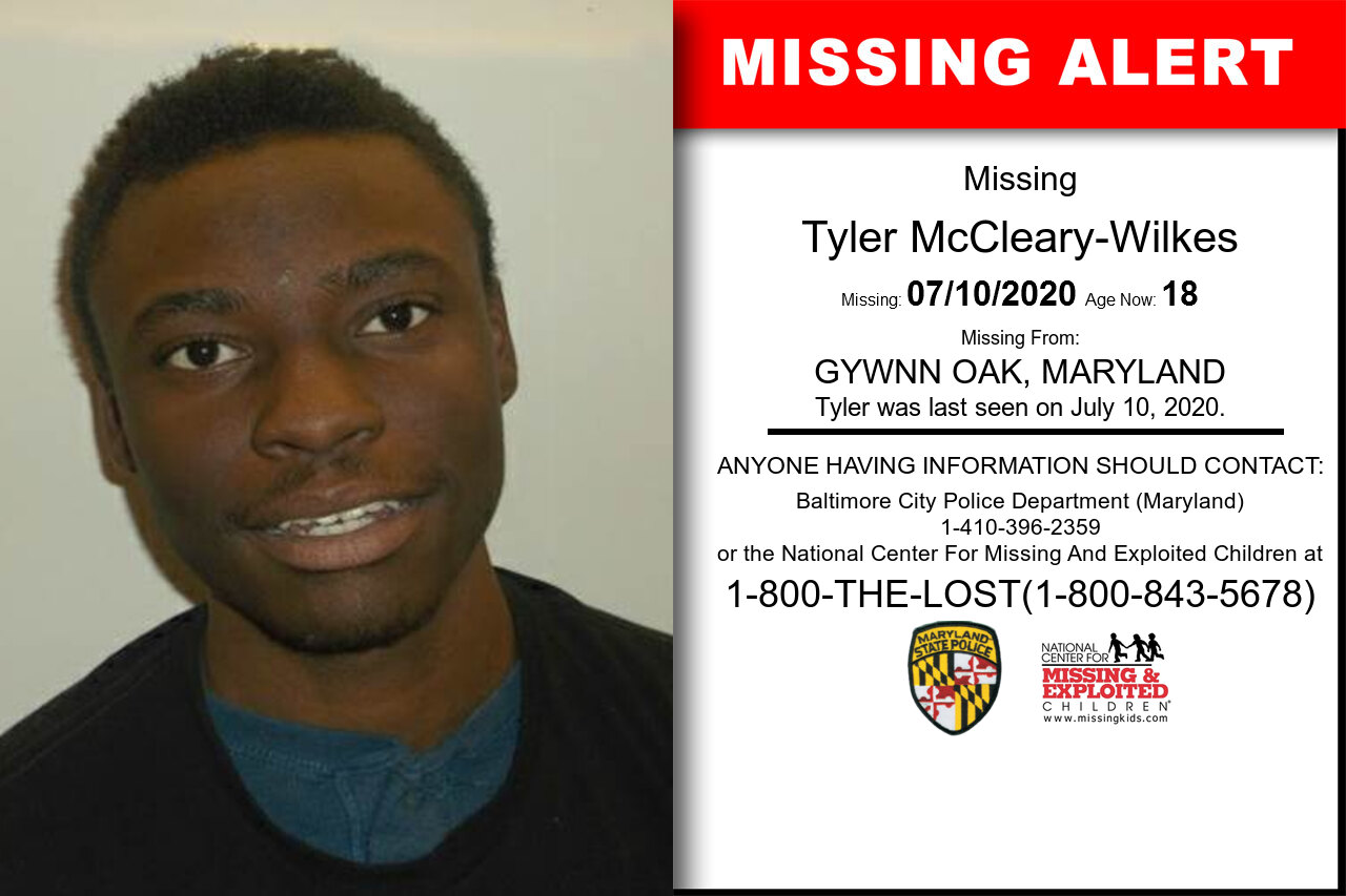 Tyler_McCleary-Wilkes missing in Maryland