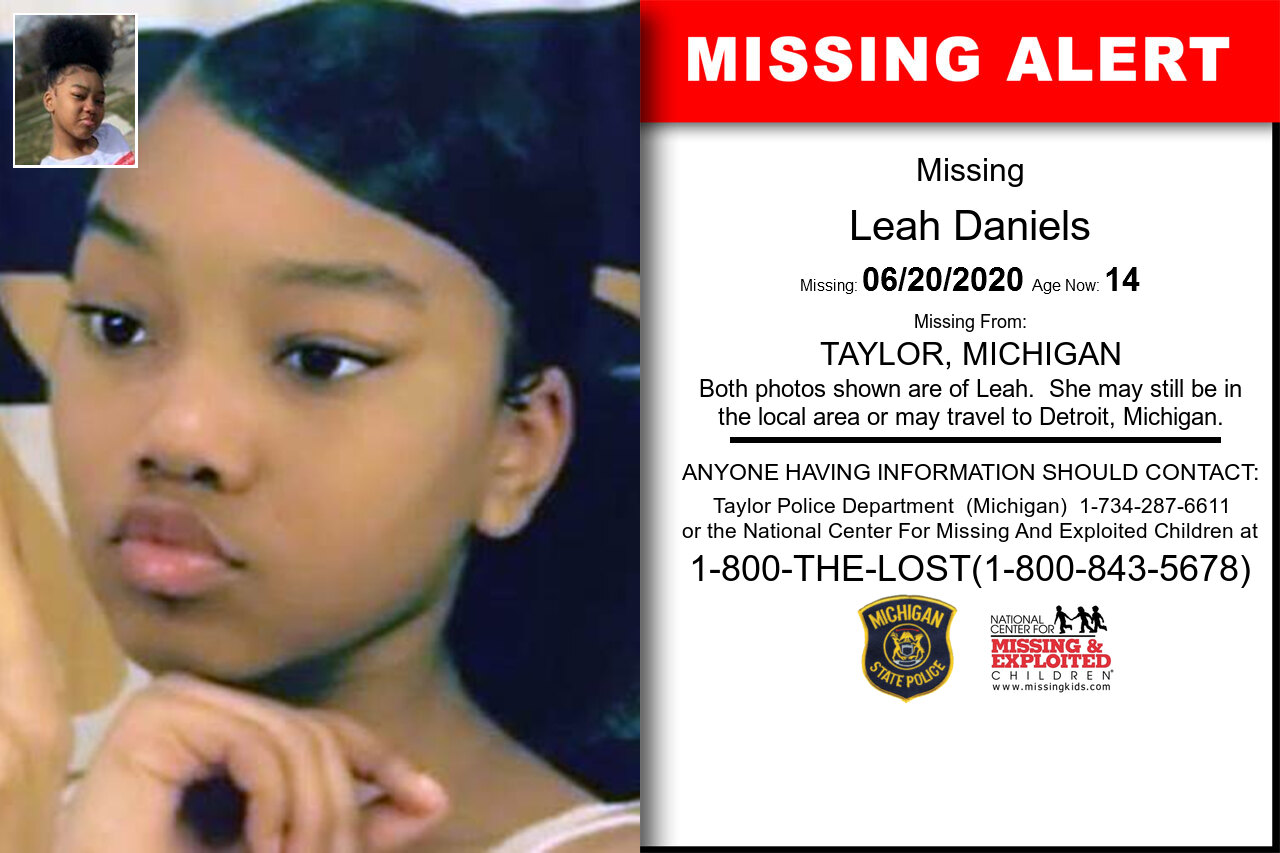 Leah_Daniels missing in Michigan