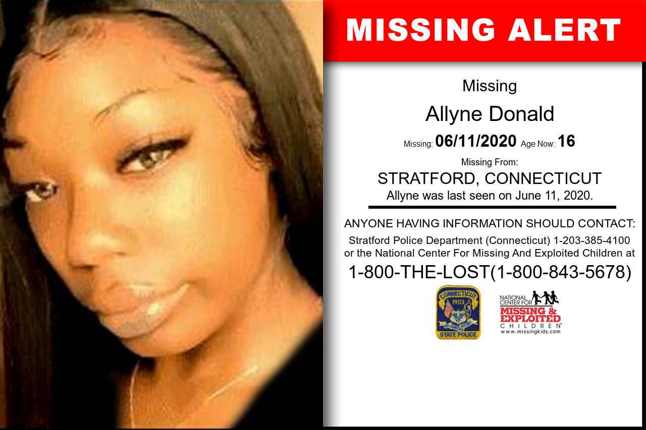 Allyne_Donald missing in Connecticut