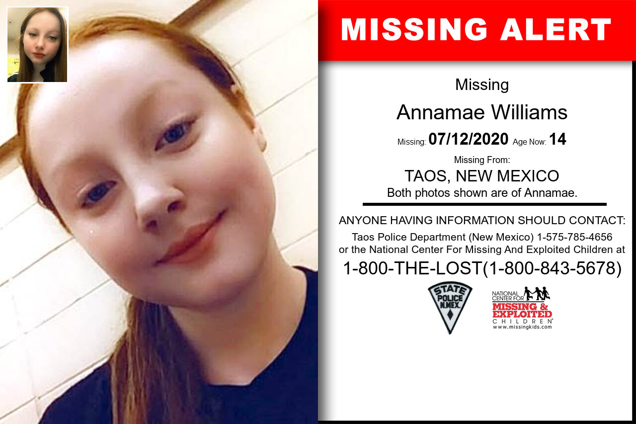 Annamae_Williams missing in New_Mexico