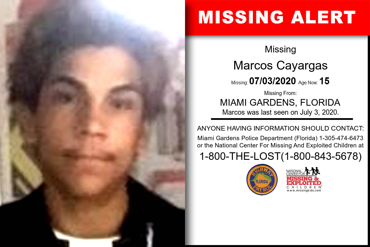 Marcos_Cayargas missing in Florida