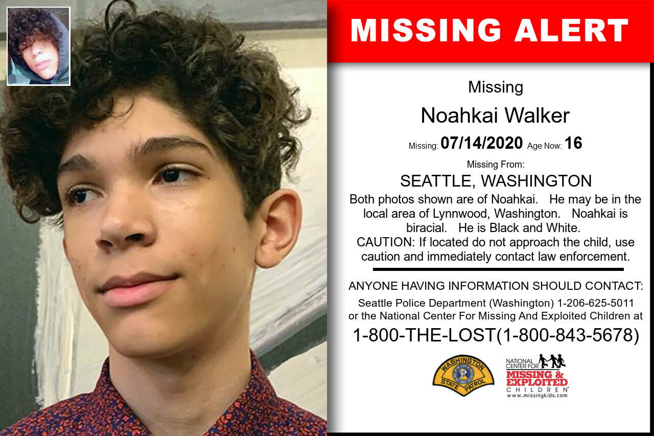 Noahkai_Walker missing in Washington