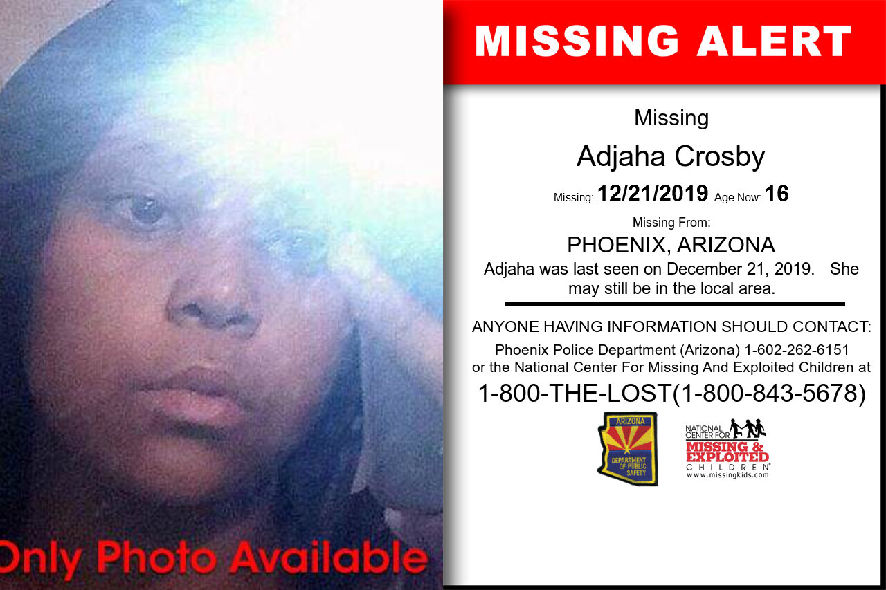 Adjaha_Crosby missing in Arizona