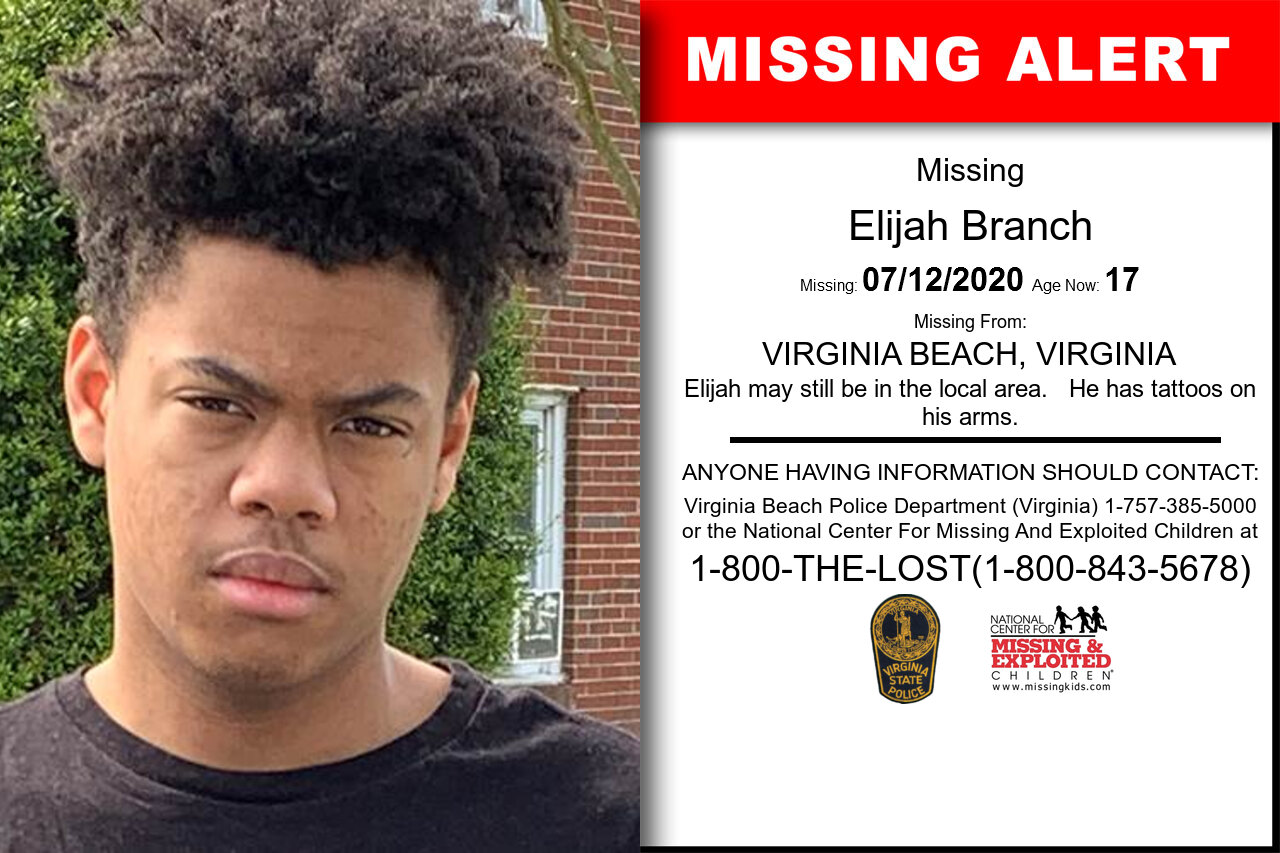 Elijah_Branch missing in Virginia
