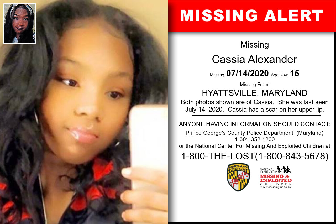 Cassia_Alexander missing in Maryland