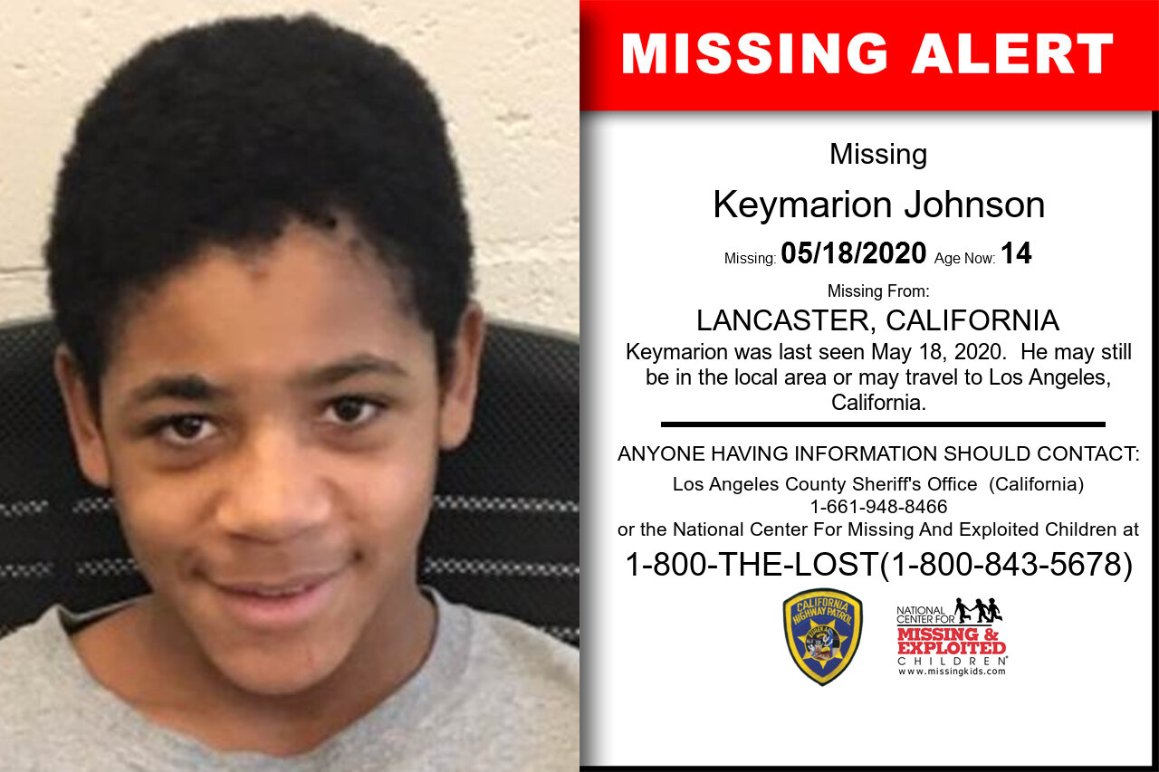 Keymarion_Johnson missing in California