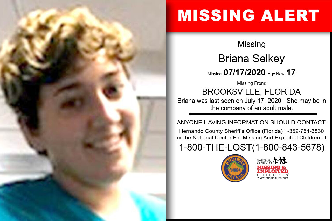 Briana_Selkey missing in Florida