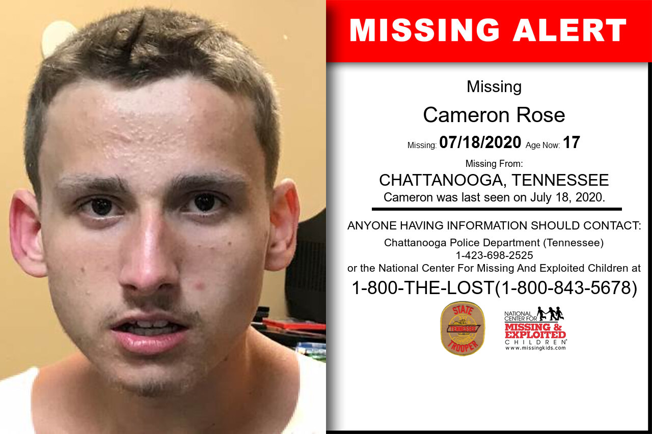 Cameron_Rose missing in Tennessee