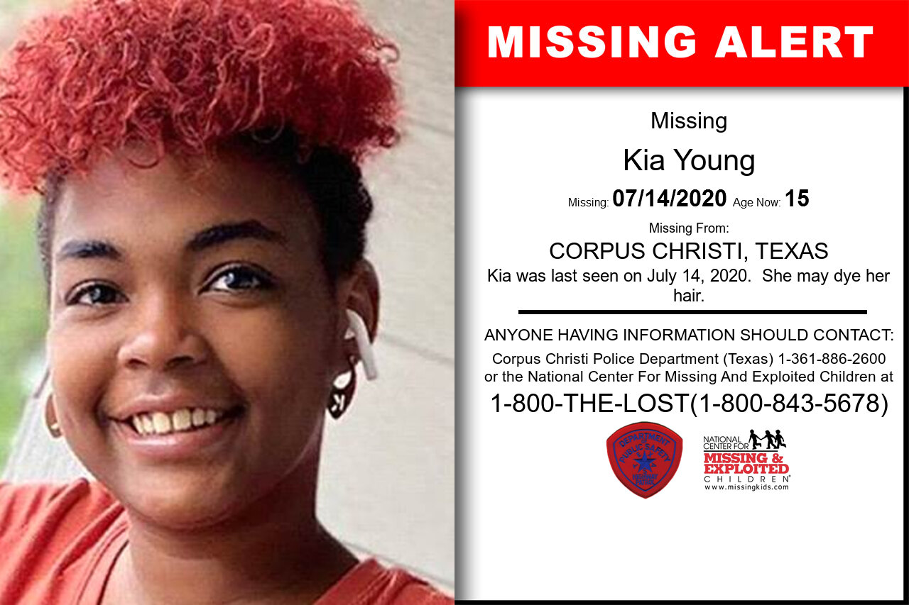 Kia_Young missing in Texas