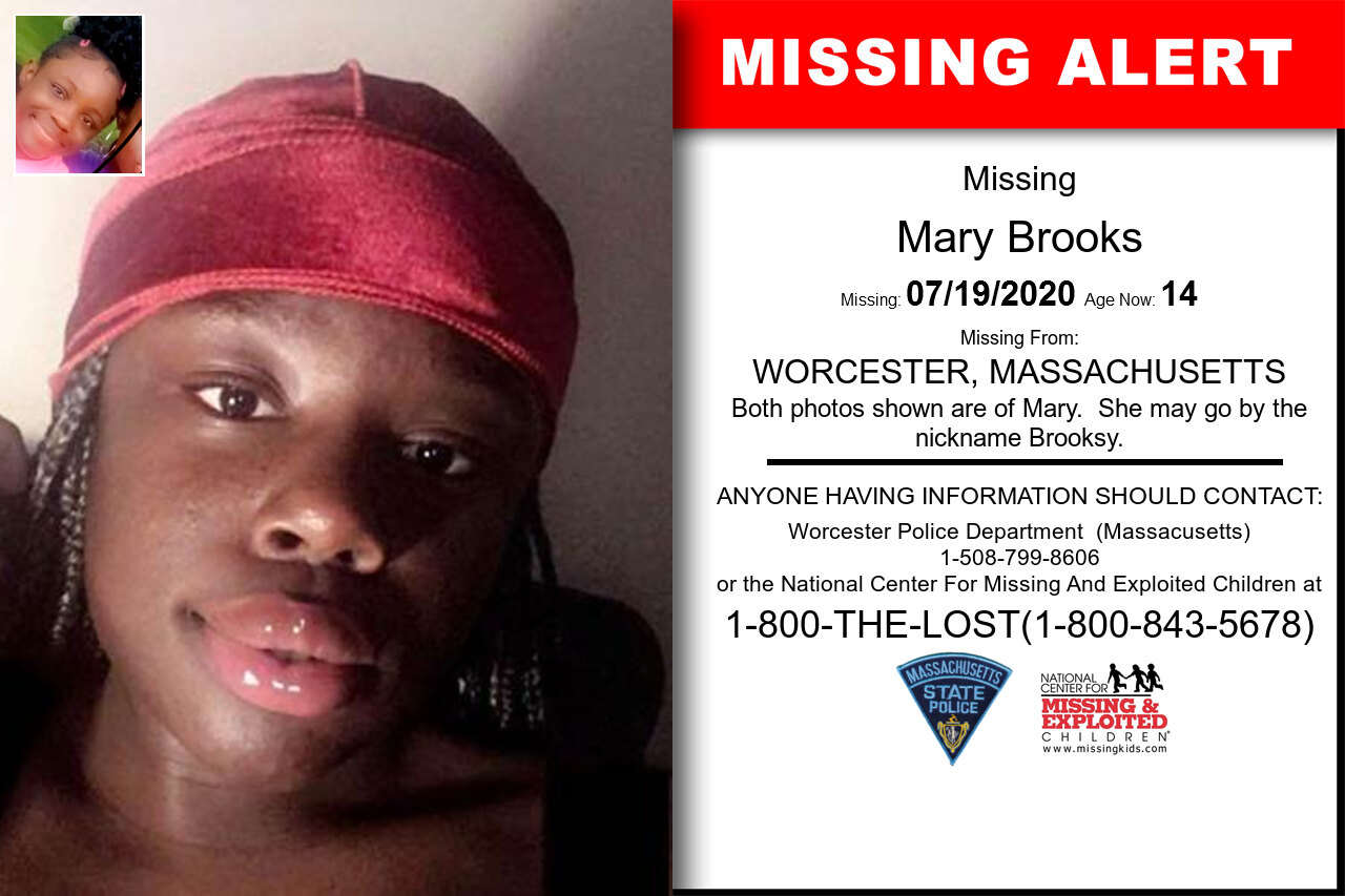 Mary_Brooks missing in Massachusetts