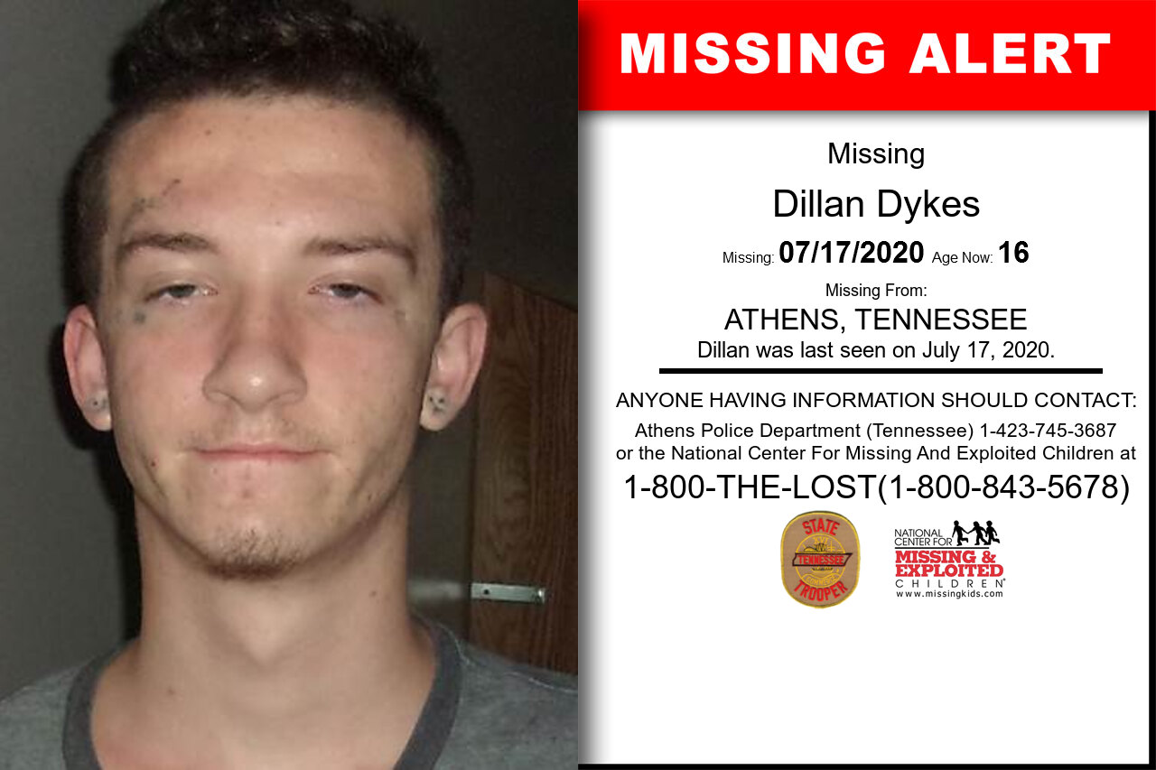 Dillan_Dykes missing in Tennessee