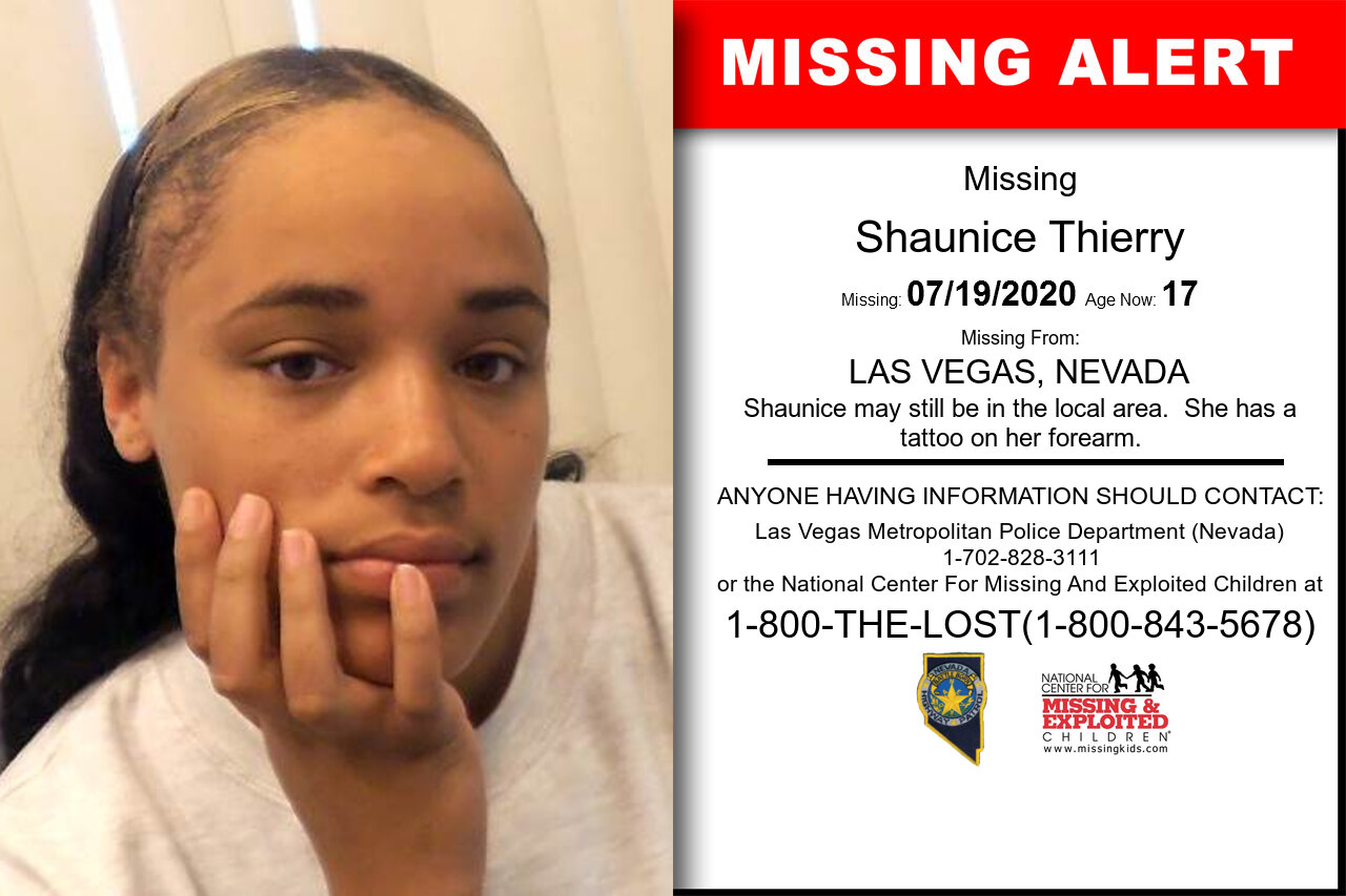 Shaunice_Thierry missing in Nevada