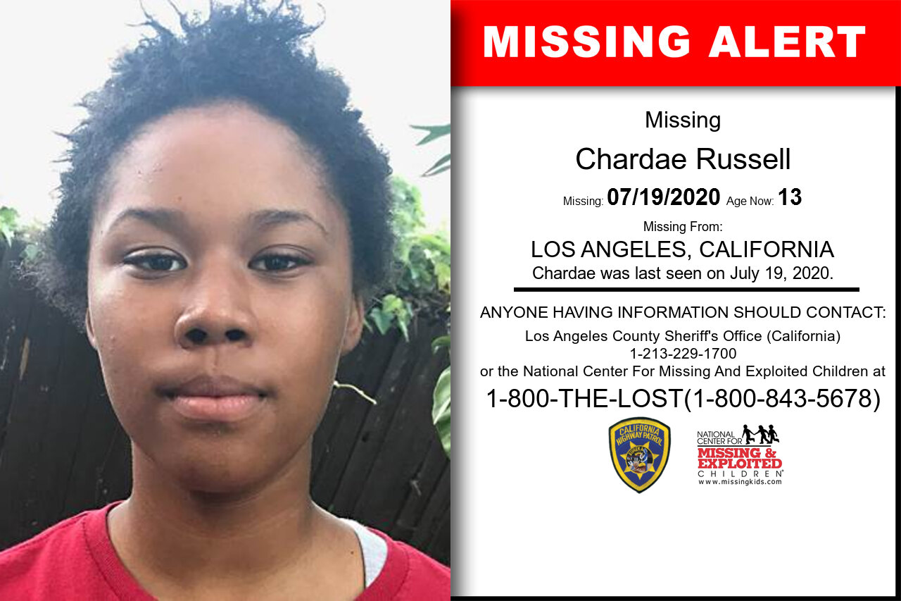 Chardae_Russell missing in California
