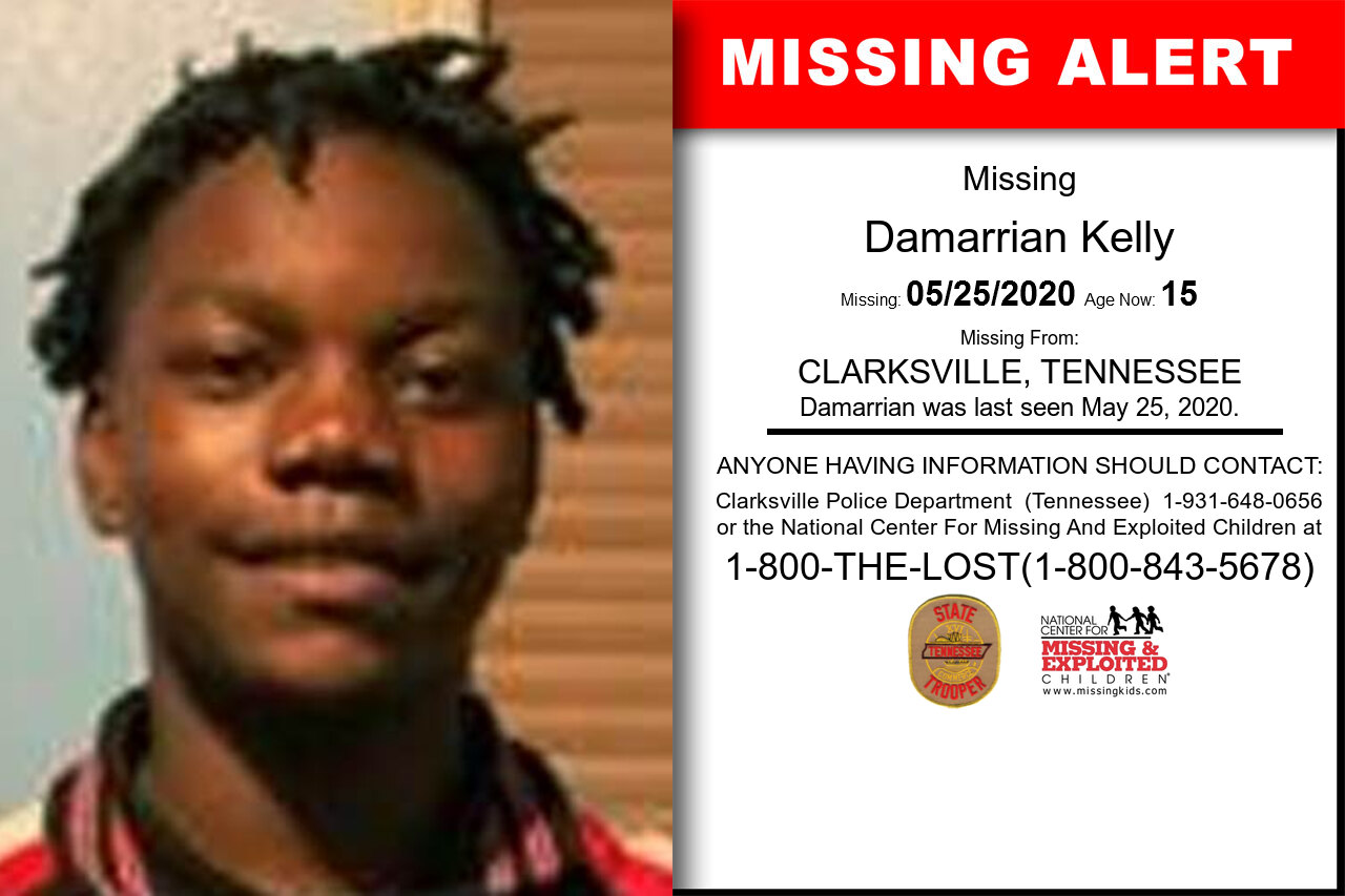 Damarrian_Kelly missing in Tennessee