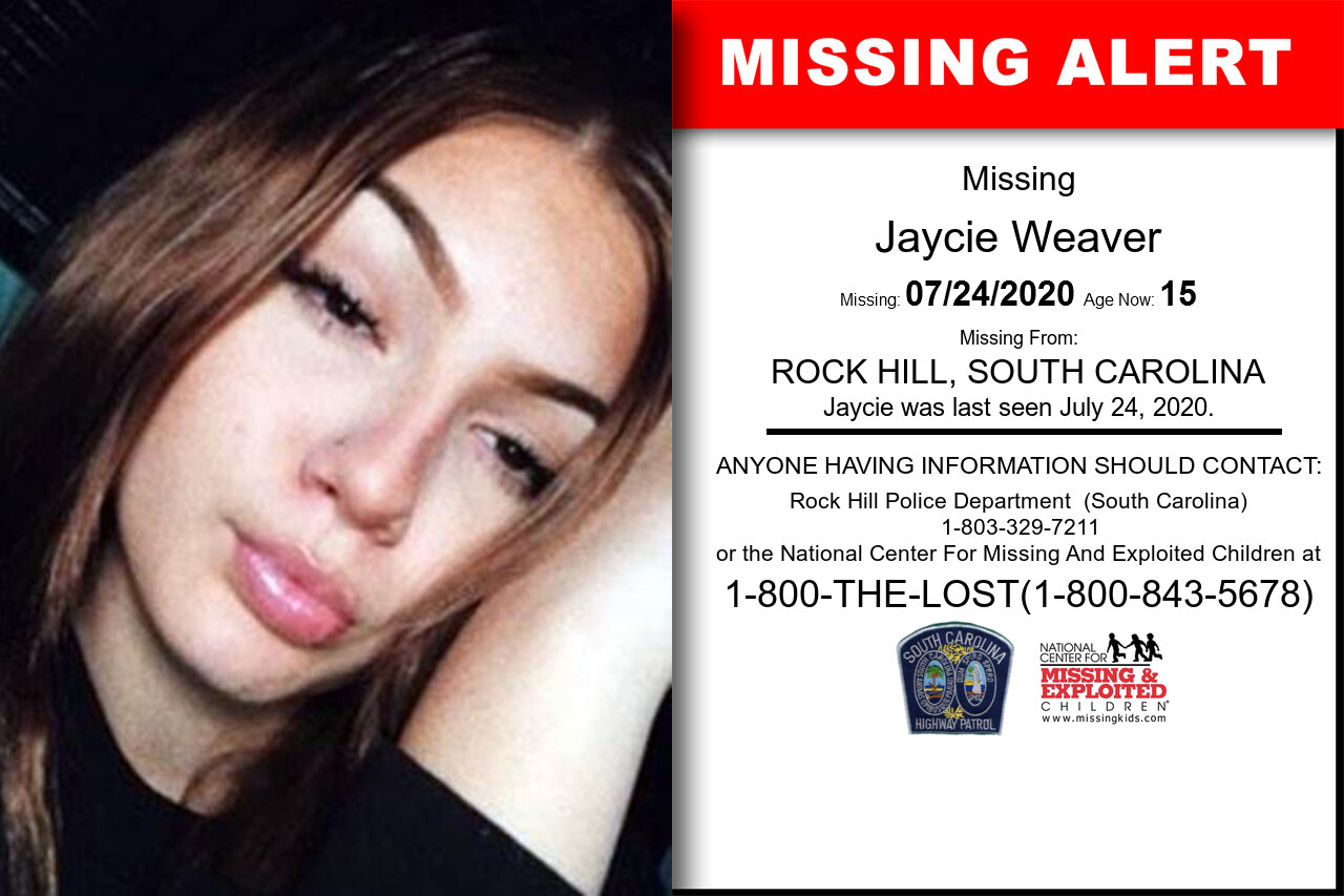 Jaycie_Weaver missing in South_Carolina