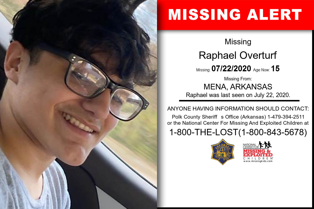 Raphael_Overturf missing in Arkansas