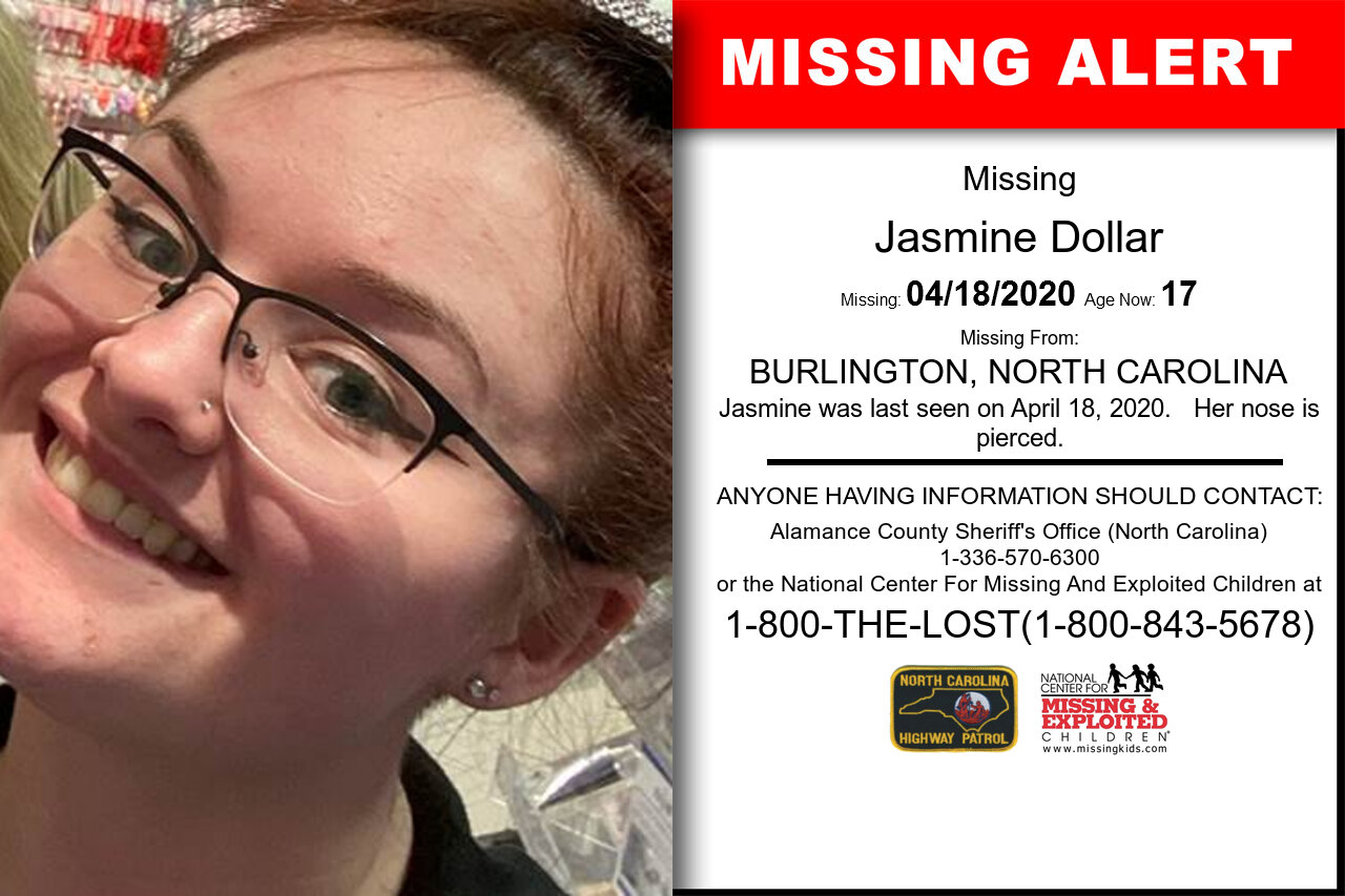 Jasmine_Dollar missing in North_Carolina