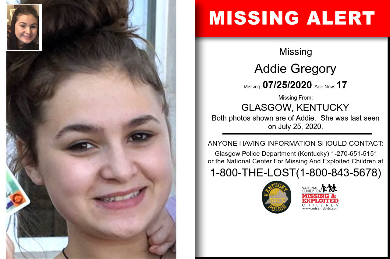 Addie_Gregory missing in Kentucky