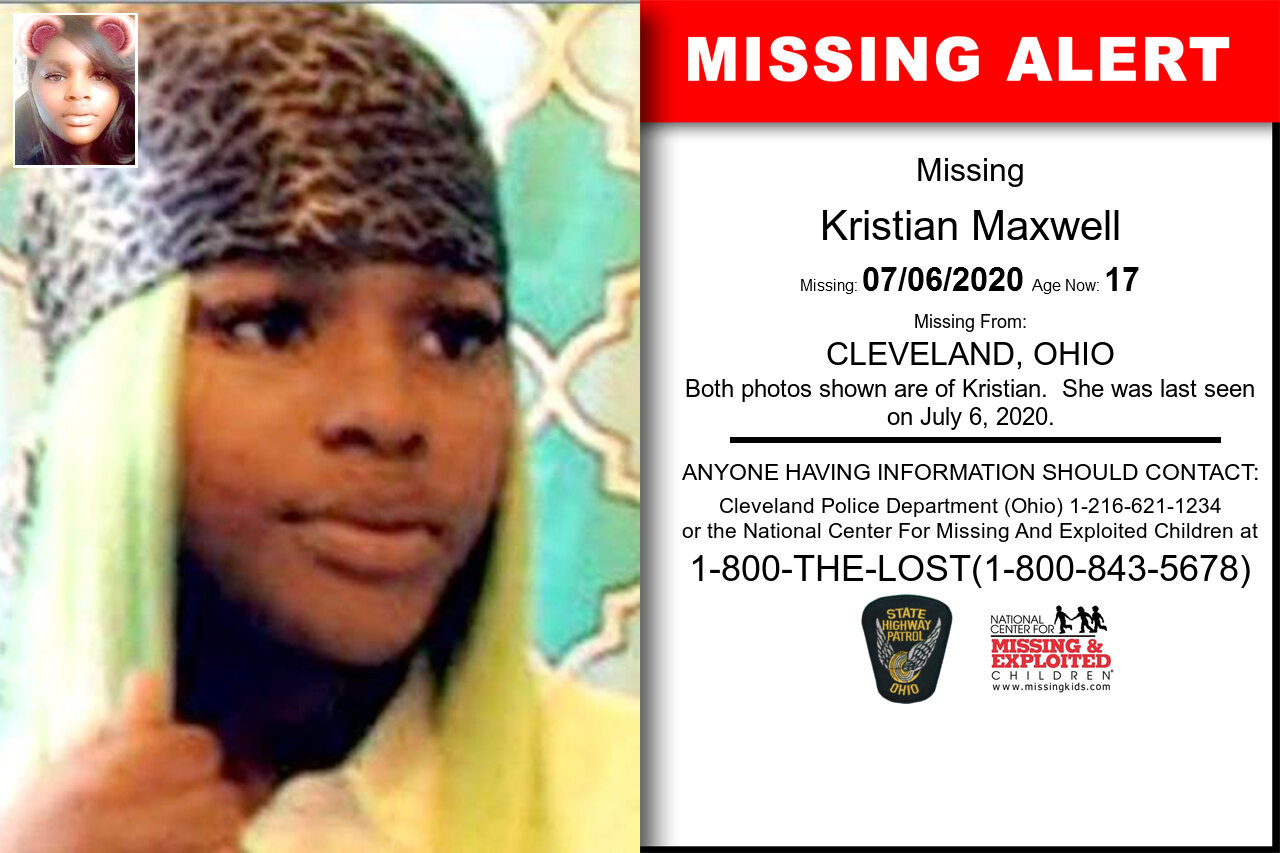 KRISTIAN_MAXWELL missing in Ohio