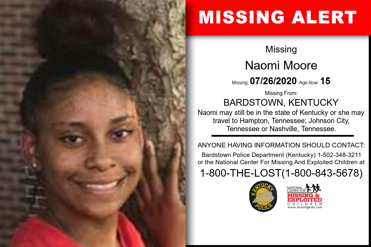 Naomi_Moore missing in Kentucky
