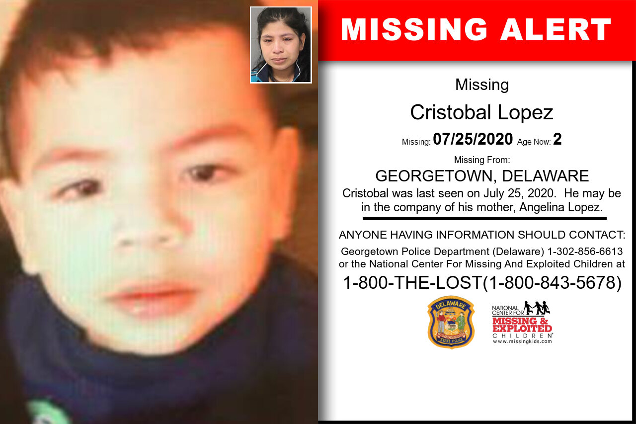 Cristobal_Lopez missing in Delaware